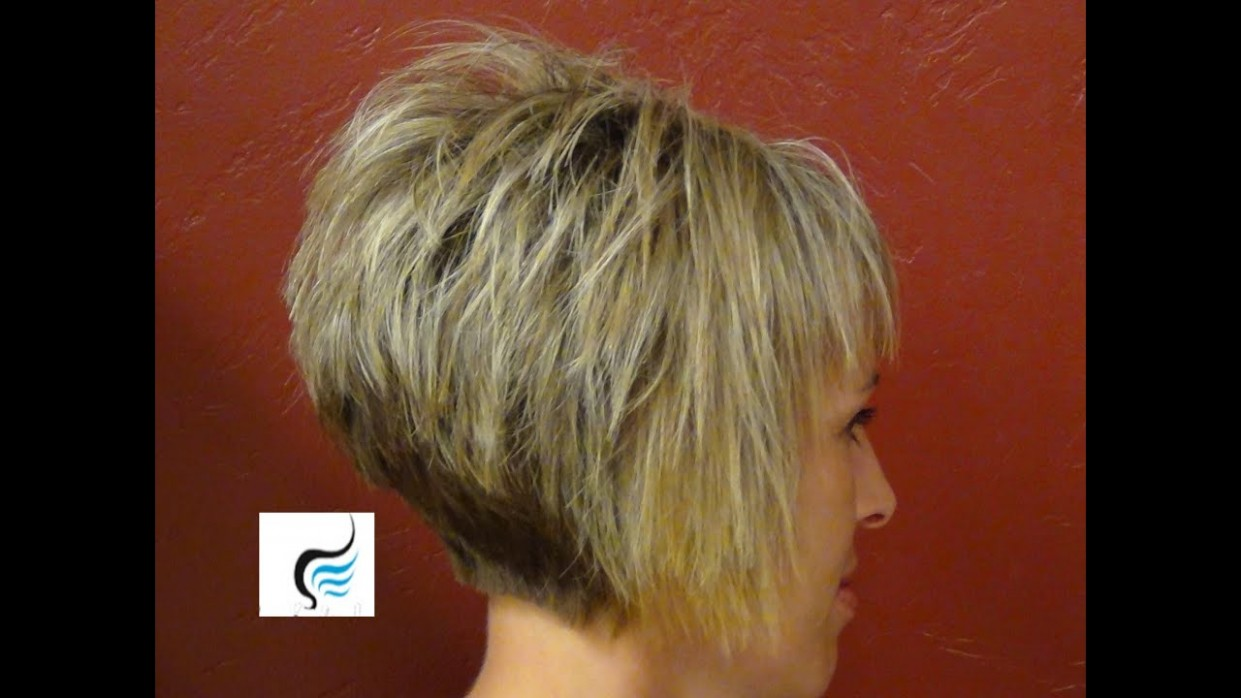 How To Do A (Short Stacked Haircut) with Straight Bangs Girl Hairstyles