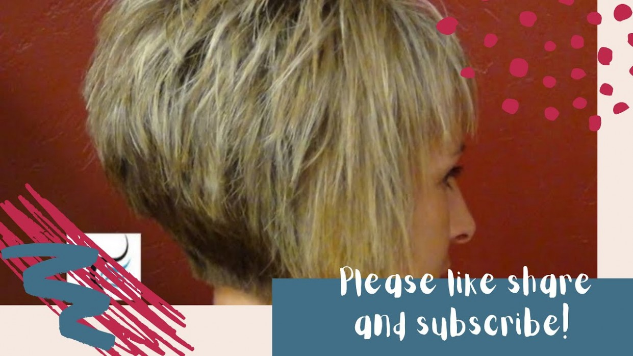 How To Do A (Short Stacked Haircut) With Straight Bangs Girl Hairstyles Stacked A Line Haircut