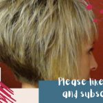 How To Do A (Short Stacked Haircut) With Straight Bangs Girl Hairstyles Stacked Pixie Cut