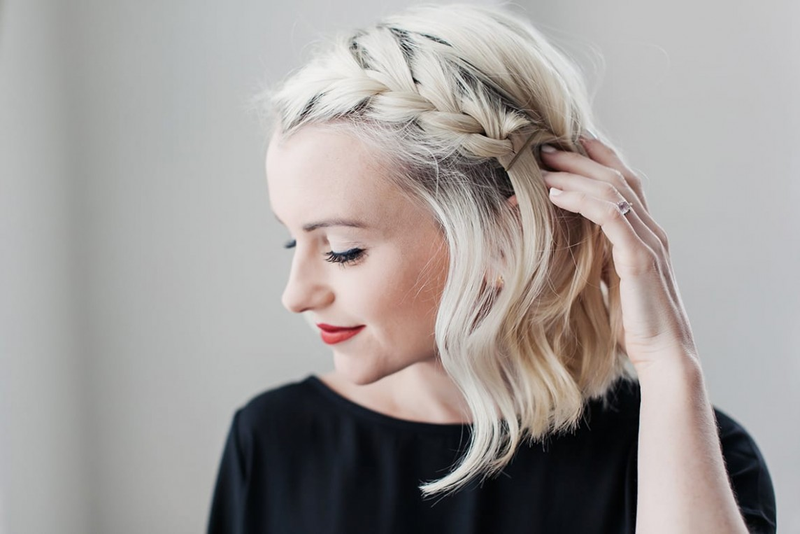 How To Do A Side Braid On Short Hair Beauty Poor Little It Girl Side Braid Short Hair
