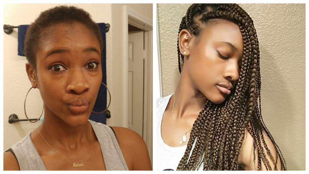 How To Do Box Braids On Very Short Hair & Chit Chat Box Braids On Very Short Natural Hair