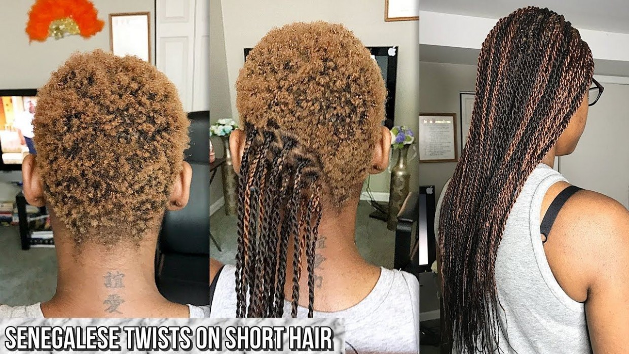 HOW TO GRIP AND BRAID VERY SHORT HAIR SENEGALESE TWISTS Box Braids On Very Short Natural Hair