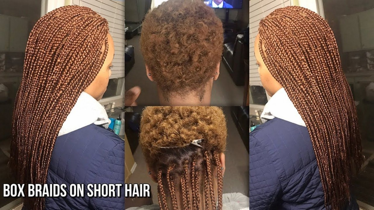 HOW TO GRIP AND DO BOX BRAIDS ON VERY SHORT NATURAL HAIR Short Box Braids On Very Short Natural Hair