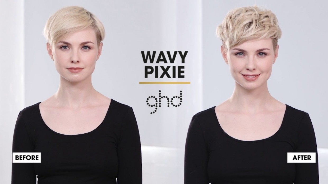 How To Style A Wavy Pixie Ghd Hairstyle How To Long Wavy Pixie Cut