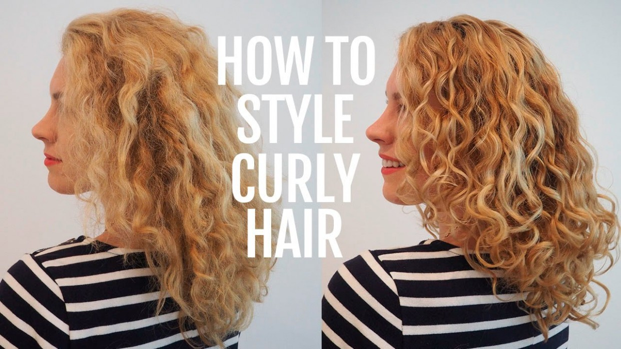 How To Style Curly Hair For Frizz Free Curls Video Tutorial Ways To Style Curly Hair