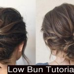 How To Style Cute Low Messy Bun Updo Hairstyles Low Curly Bun