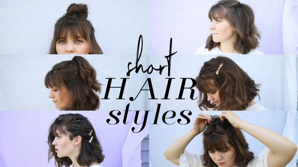 How To Style Short Hair ( Bangs) Cute Hairstyles For Short Hair With Bangs