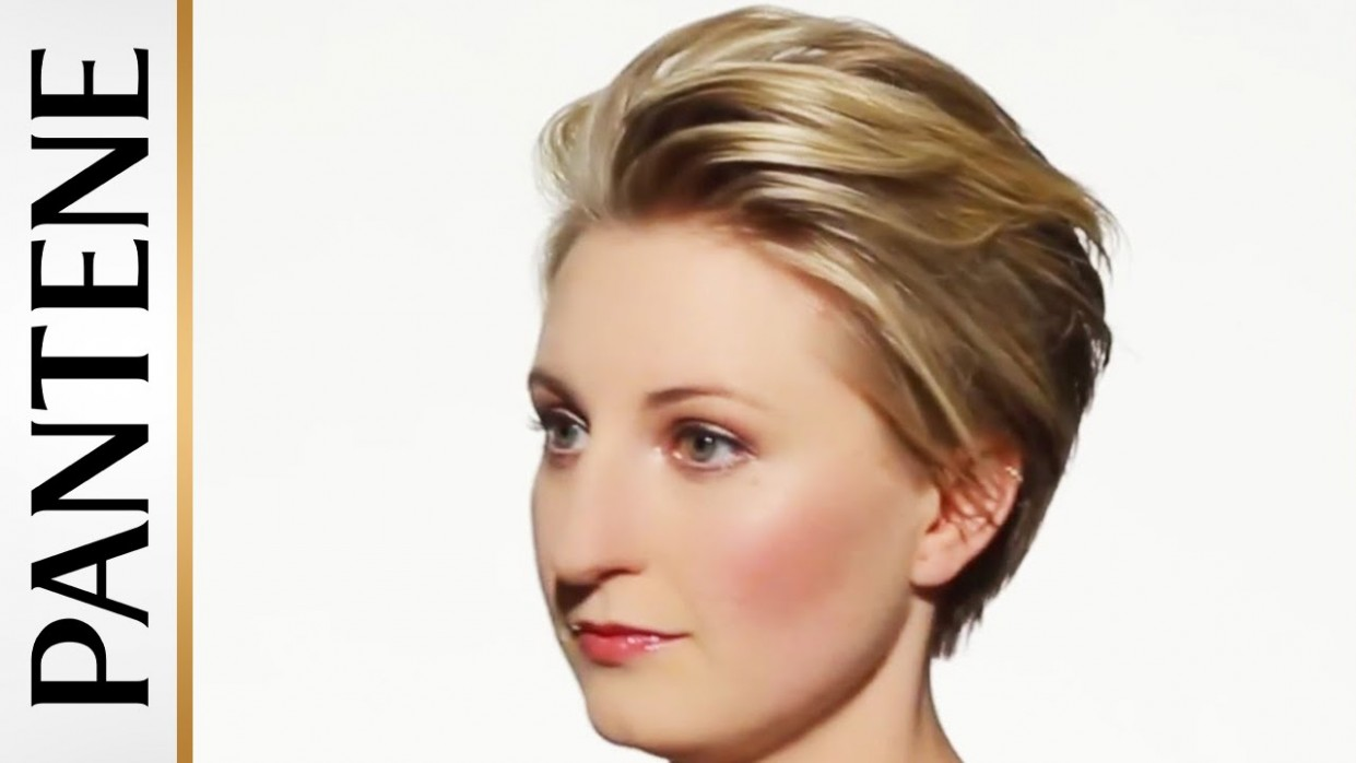 How To Style Short Hair: Swept Back Pixie Cut Side Swept Pixie Cut