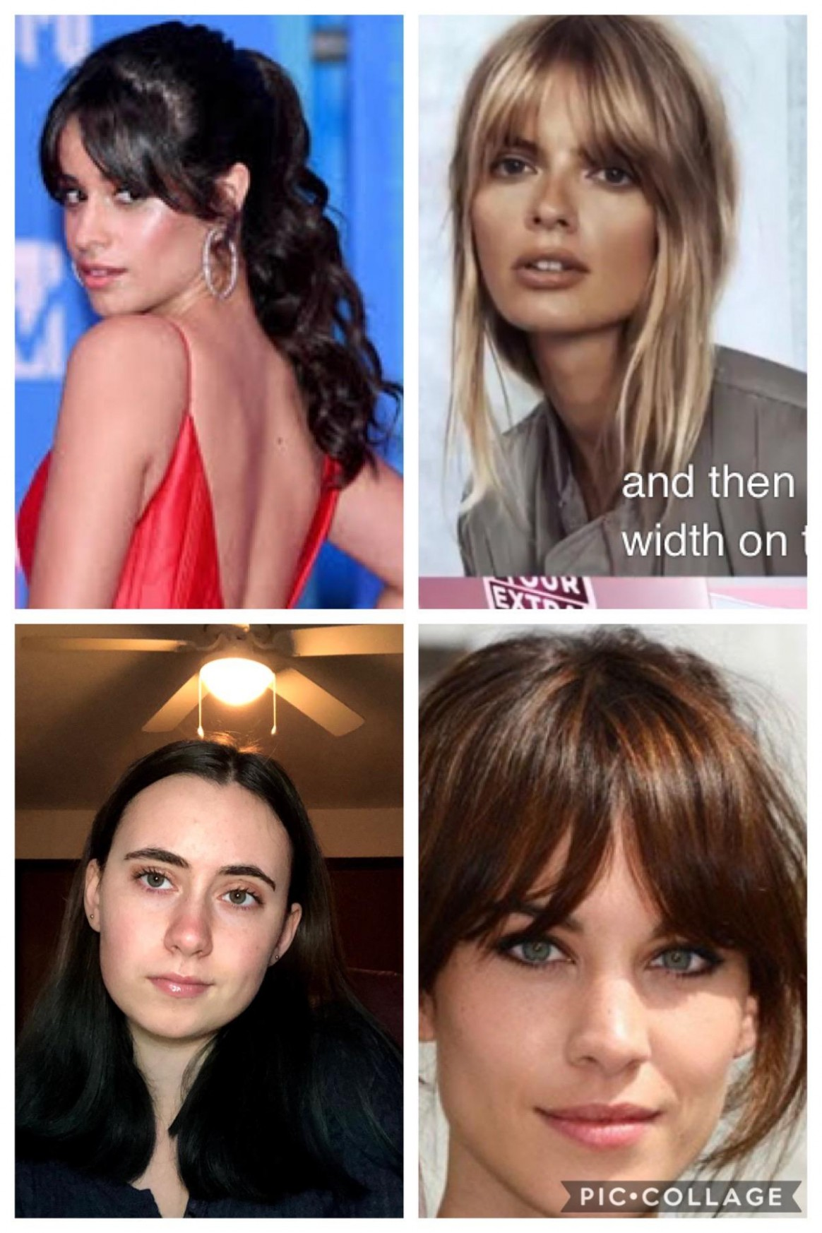 I (bottom Left) Want To Get Curtain Bangs! I Have A Square Face Square Face Bangs