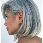 Image Result For A Line Bob Haircuts For Round Faces Long Gray Hairstyles For Grey Hair Round Face