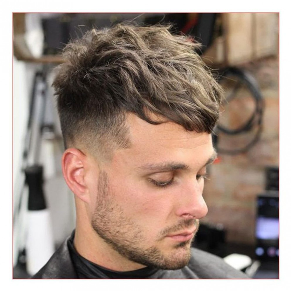 Image Result For Short On Sides Long On Top Curly Mid Fade Sides Cut Top Long