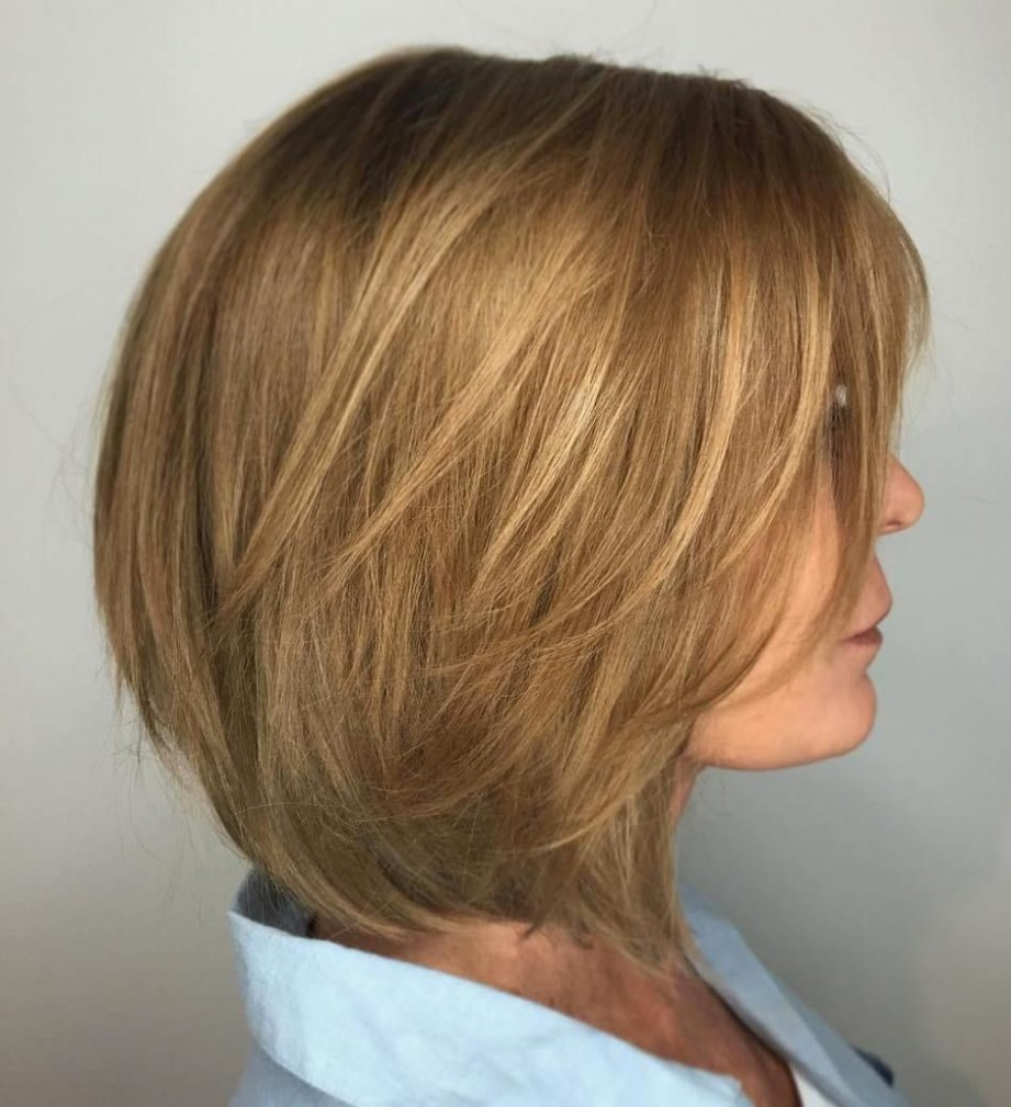 Light Brown Bob For Women Over 11 Honey Brown Hair, Hair Styles Layered Bob Hairstyles For Over 40
