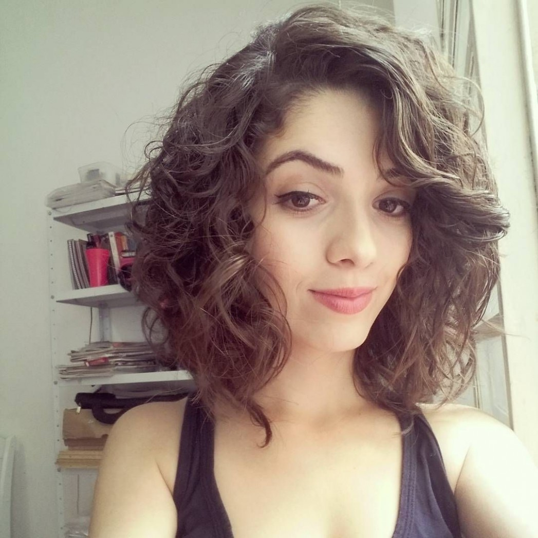 Long Curly Bob Or Lob Curly Hair Styles, Curly Bob Hairstyles Curly Lob With Bangs