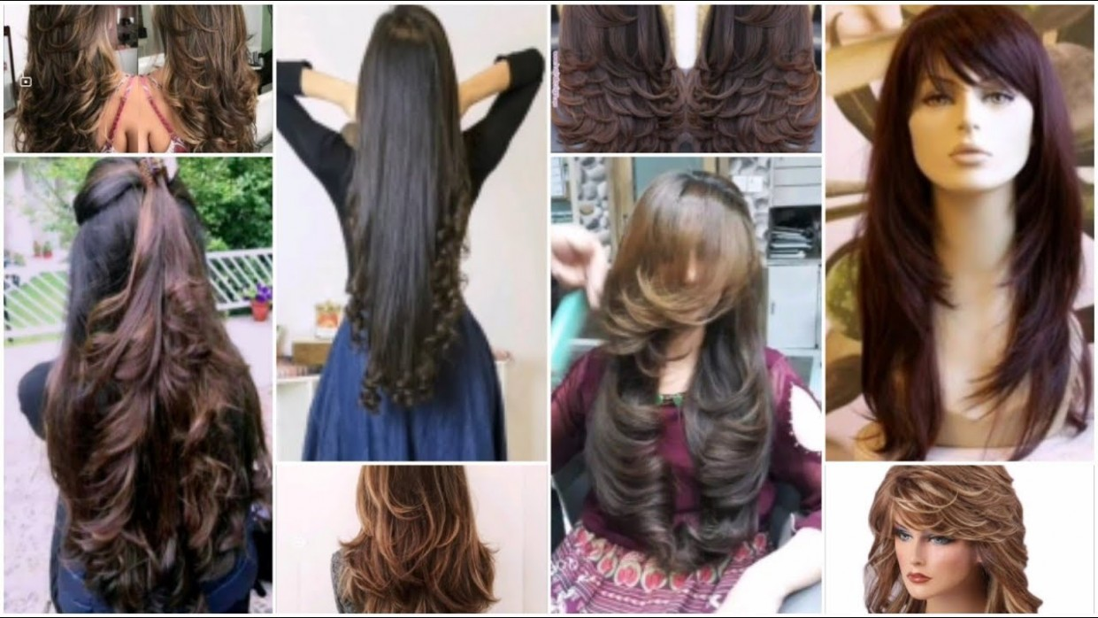 Long hair cutting ideas Top 8 layer haircut,front and back layerss
