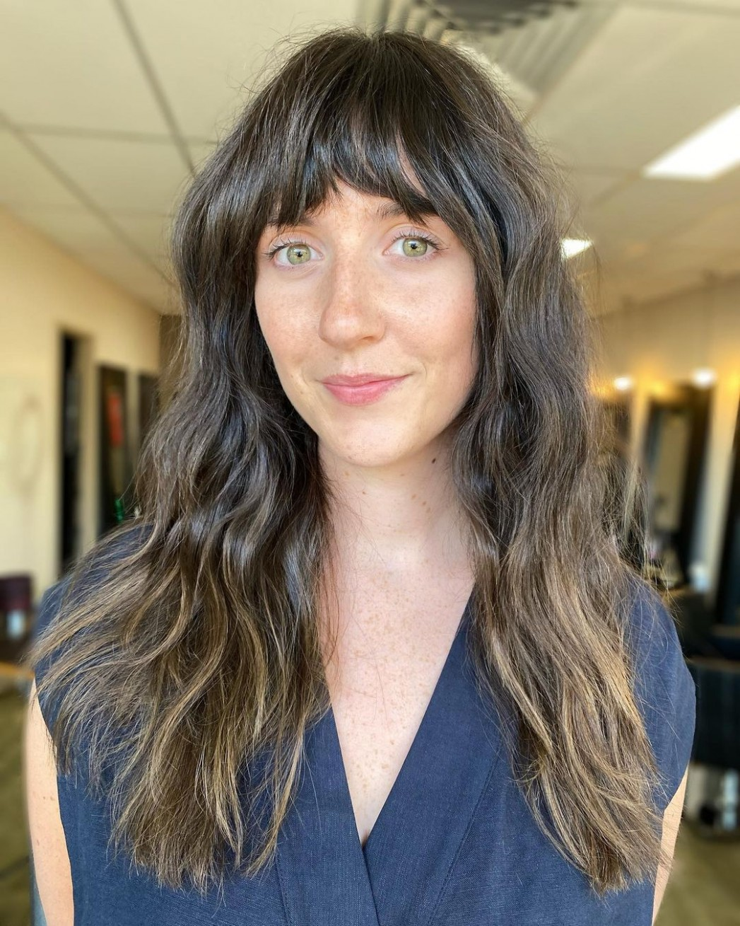 Long Hair With Bangs: 11 Best Examples of 11
