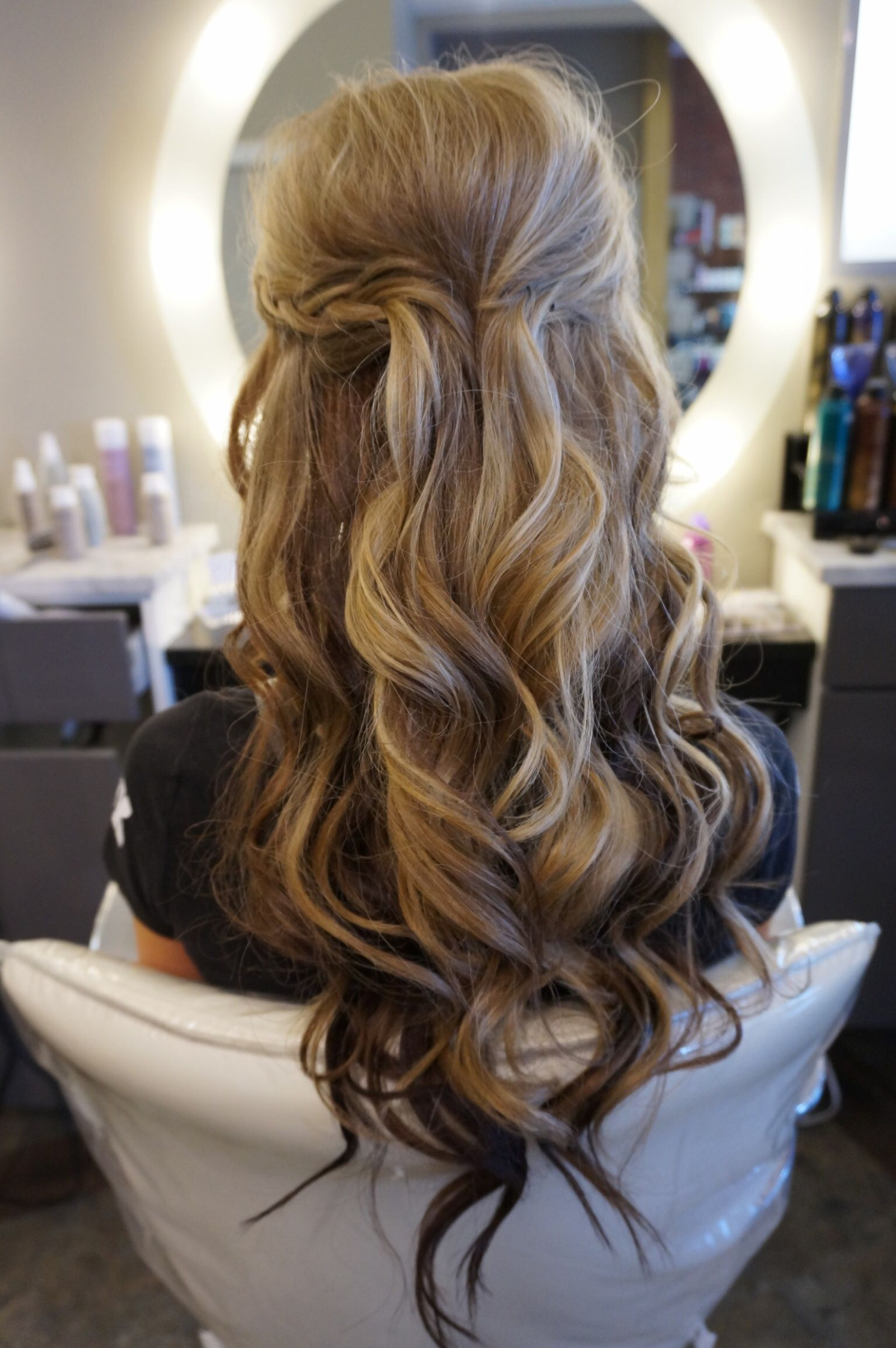 Long Hair With Loose Curls Perfect Half Up Half Down Style! Follow Half Up Half Down Curly Hairstyles