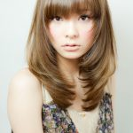 Long Straight Light Brown With Face Framing Layers And Bangs Face Framing Layers With Bangs