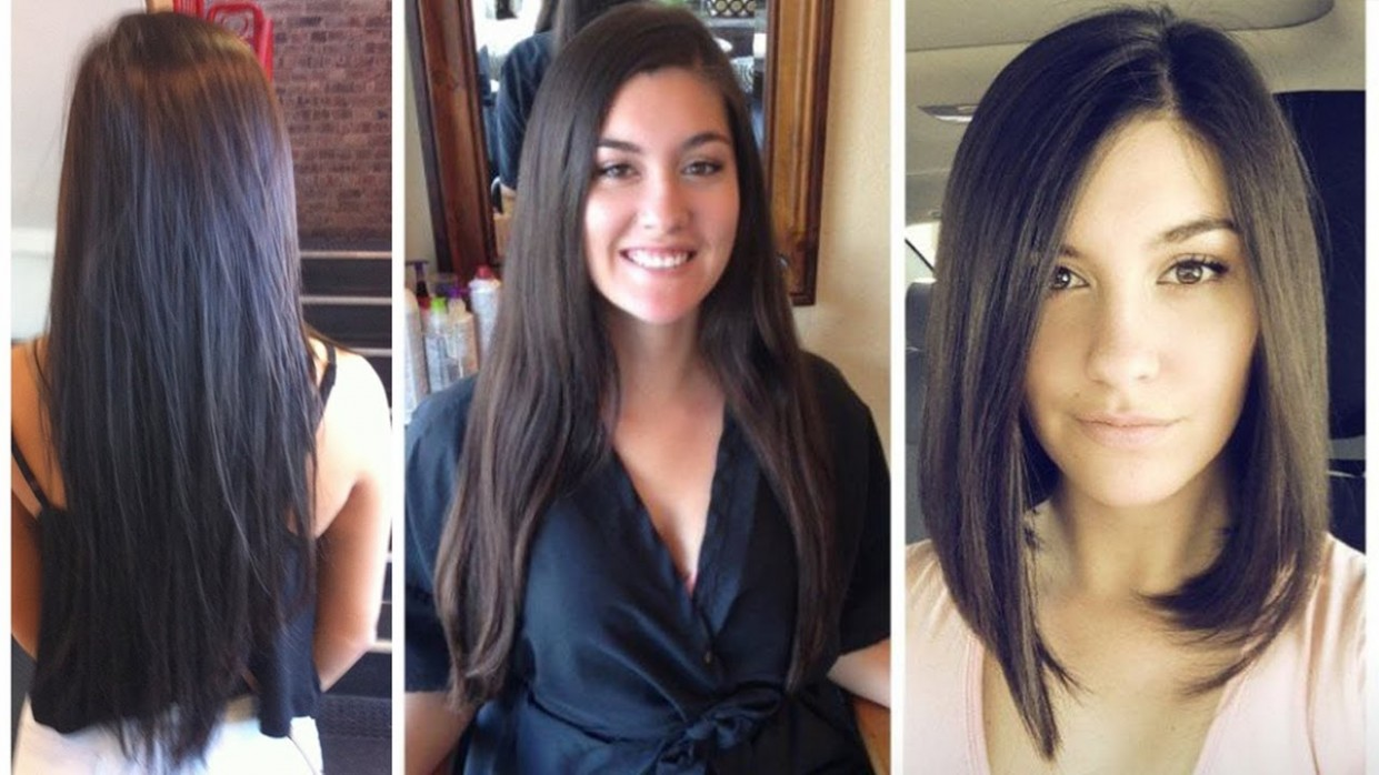 Long To Bob Haircut Makeover From Long Hair To Bob Cut Long To Bob Hair Cut Hair Cut Long Bob