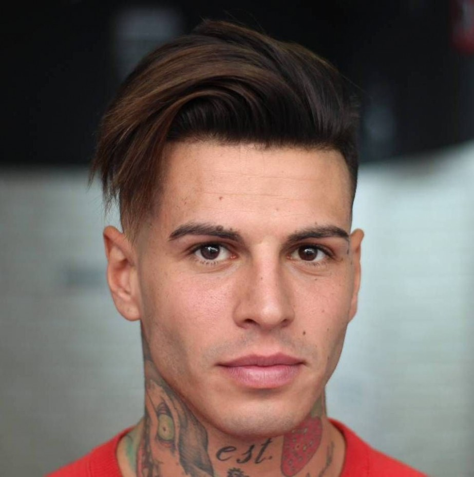 Long Top Shaved Sides Hairstyle For Men Medium Haare, Rasiert Shaved Sides Long Top