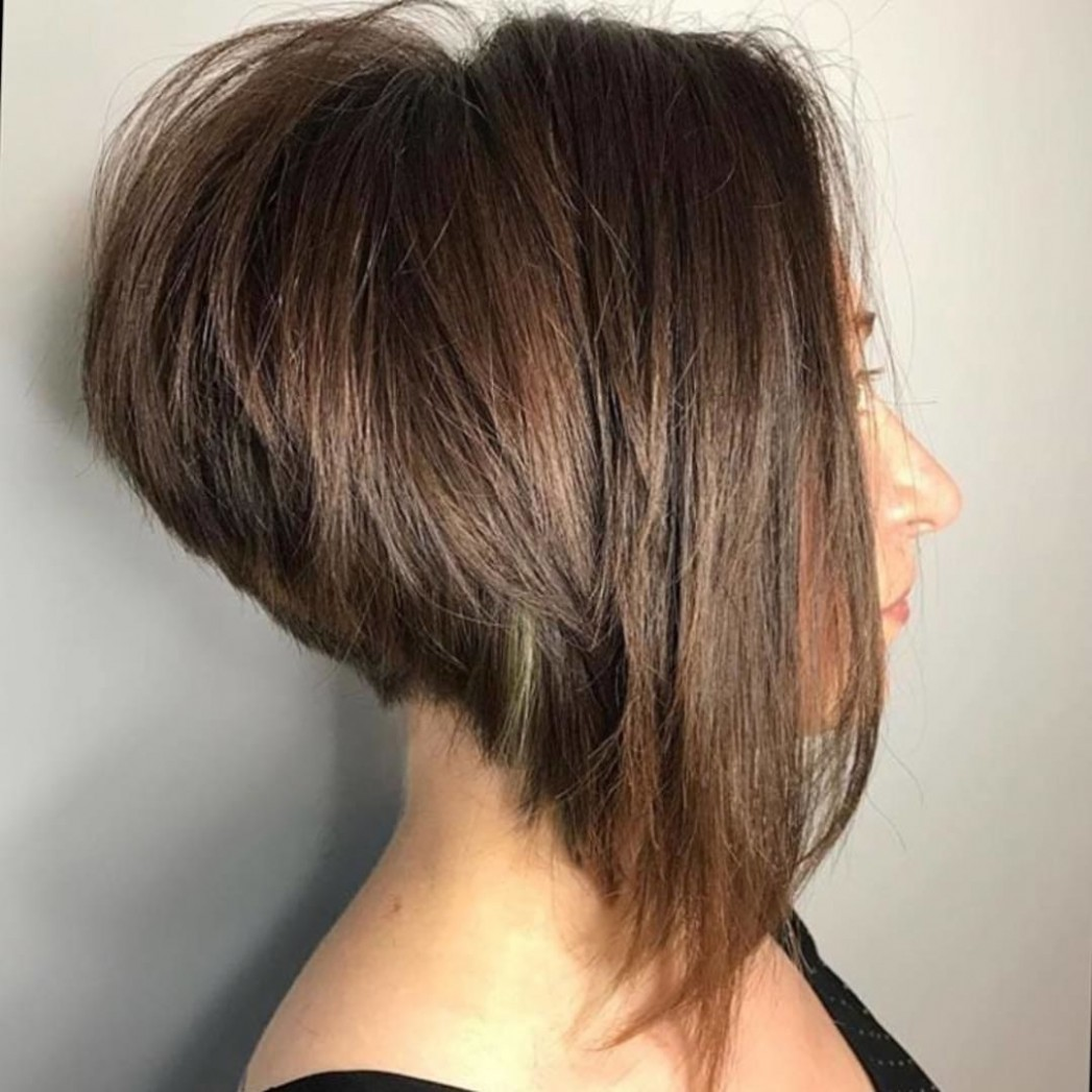Loving That Highly Stacked Aline Bob, Great Angle And Texture Stacked A Line Haircut