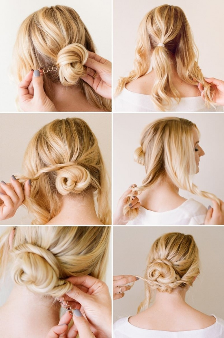 Messy Bun Hairstyles For Short Hair Step By Step Deceptive Bun Messy Bun For Short Hair Step By Step