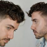 MODERN CURLY HAIRSTYLE 8 Men's Undercut Curly Fringe Haircut Alex Costa Curly Fringe Male