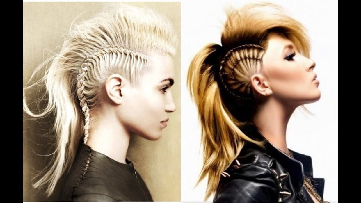 Mohawk Hairstyles For Women With Long Hair Long Hair Mohawk