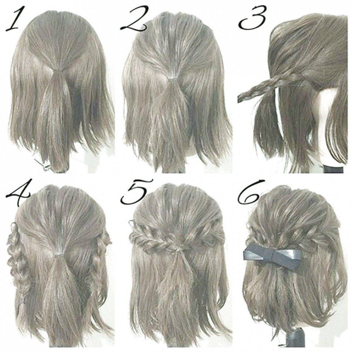 Must Have 12 Hairstyles DIY And Tutorial For All Hair Lengths Cute Quick Hairstyles For Short Hair