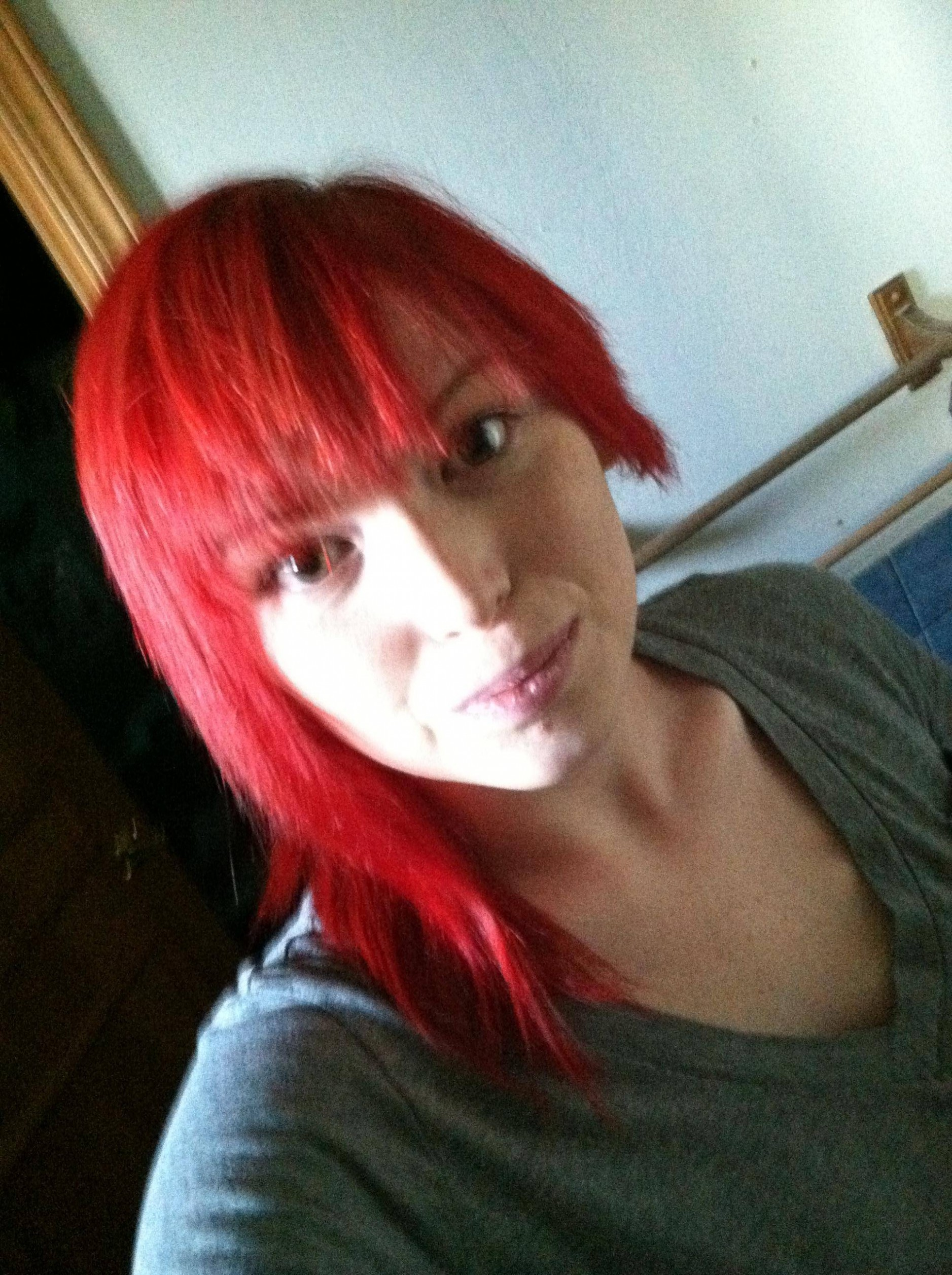 My Short On One Side Long On The Other, Bright Red Hair :11 Hair Short On One Side Long On The Other