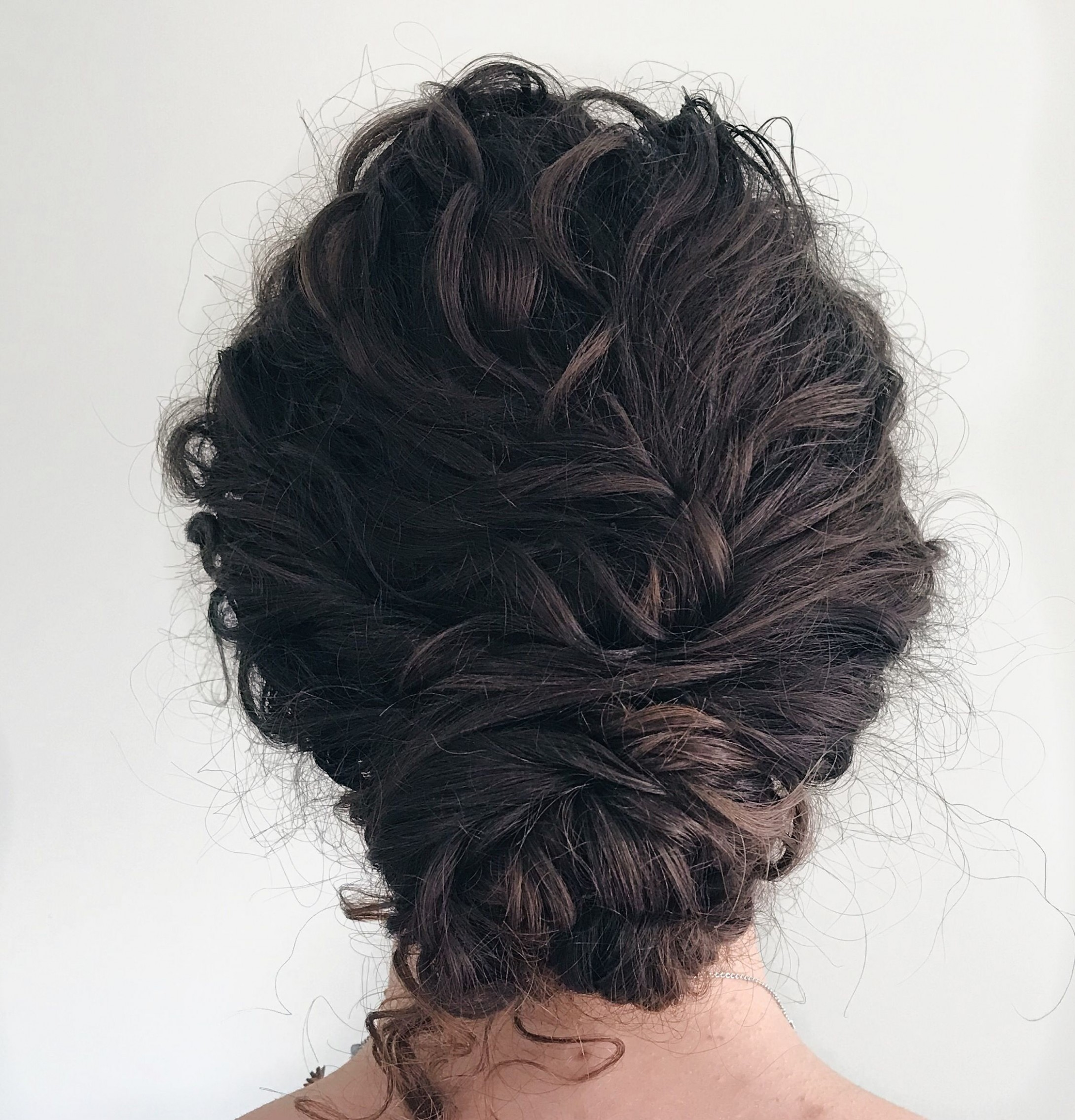 Naturally Curly Low Bun Curly Hair Up, Curly Hair Styles Low Curly Bun