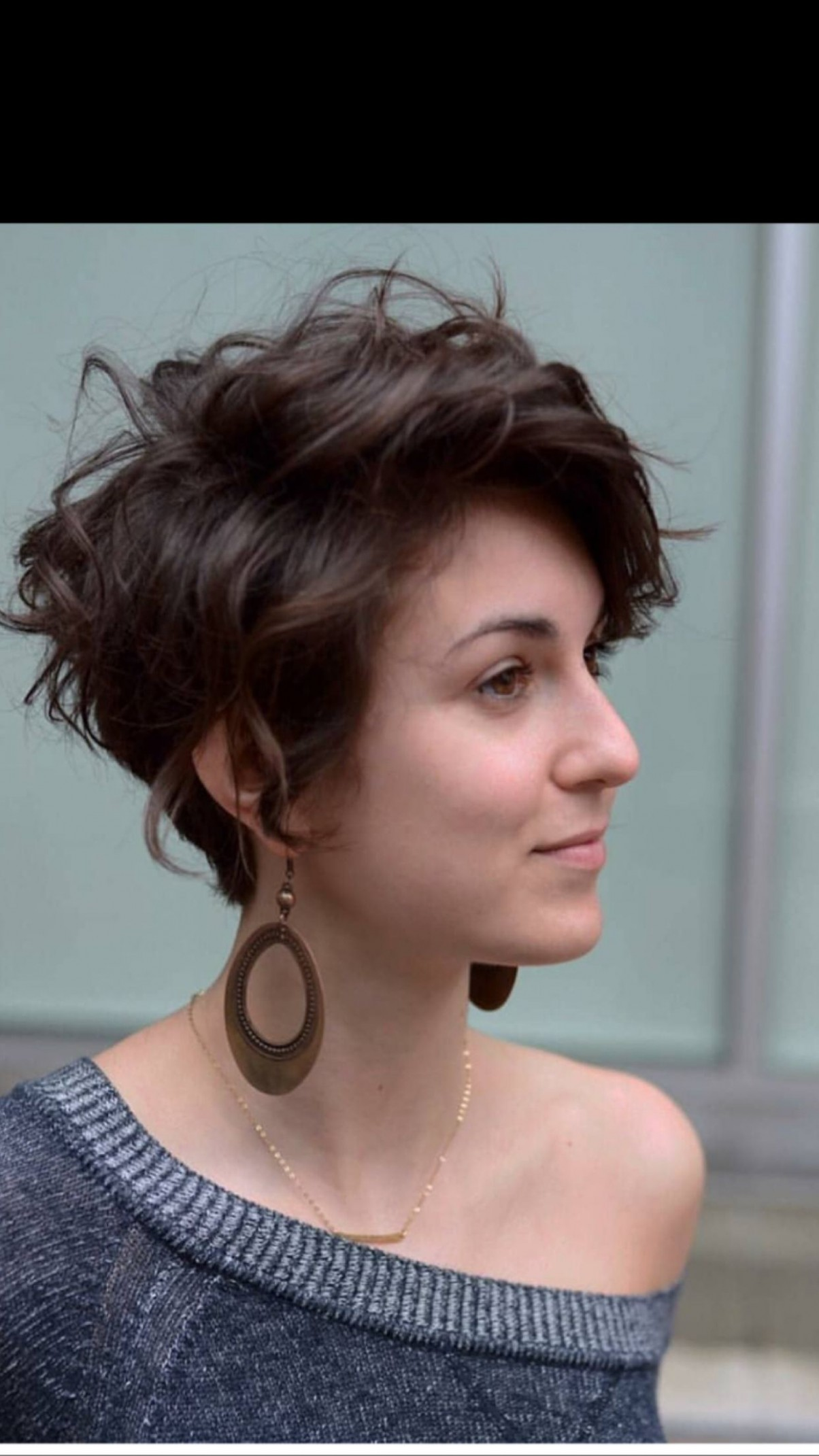Need To Style My Hair Differently As It Grows Out, This One Looks Long Curly Pixie