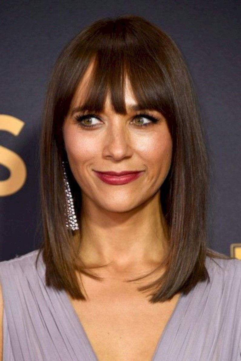 Nice 8 Inspiring Haircut With Bangs For Women Over 8 To Look Straight Lob With Bangs