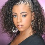 One Sided Braided Mohawk Google Search Natural Hair Styles One Side Braid With Curls Black Hair