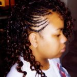 Partial Weave With Side Braids And Curly Hair Hair Styles One Side Braid With Curls Black Hair