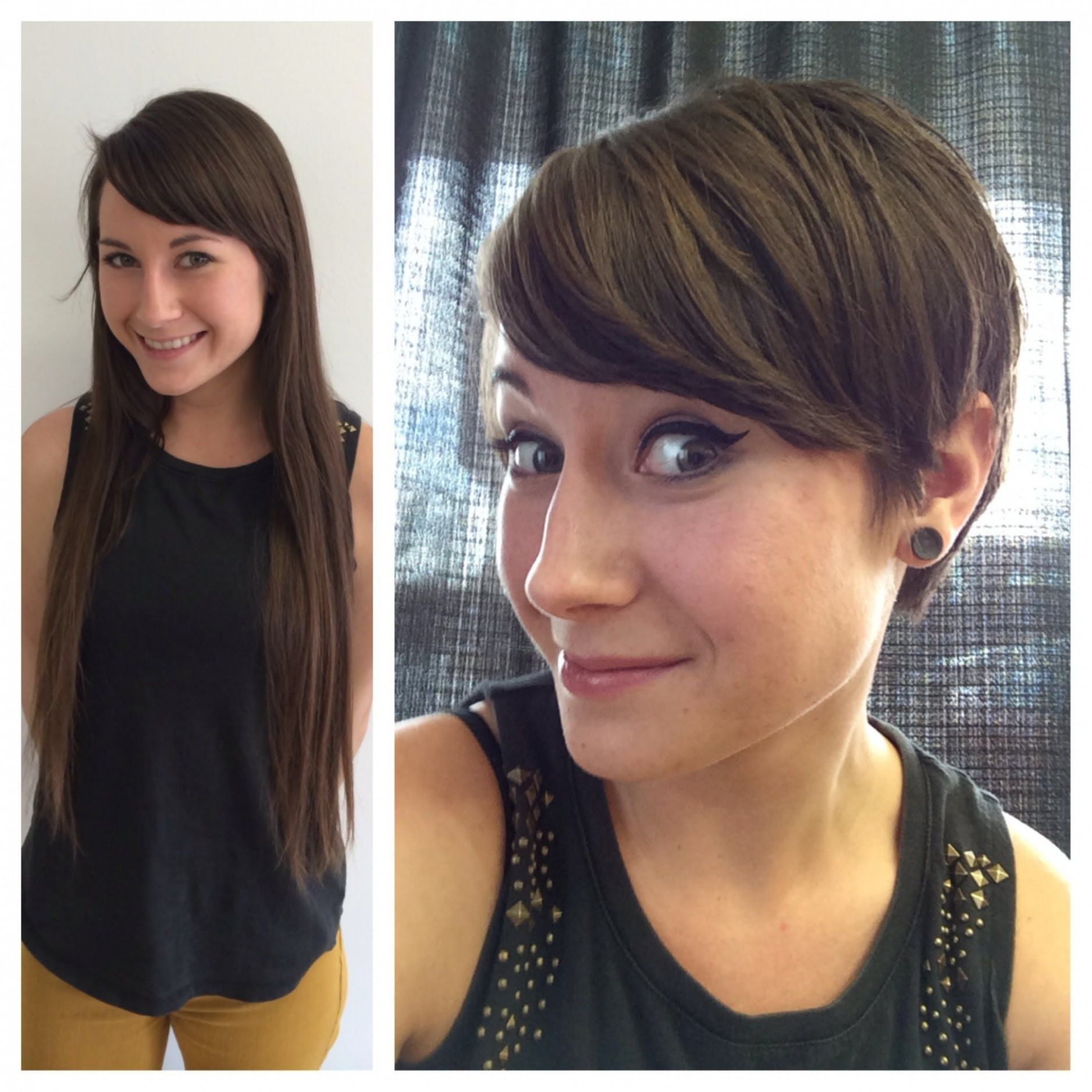 Pin On Beauty Long Hair To Pixie Cut