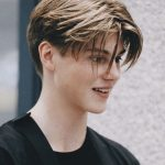 Pin On Center Part Curtains Hairstyle Short Sides Long Top Haircut Name