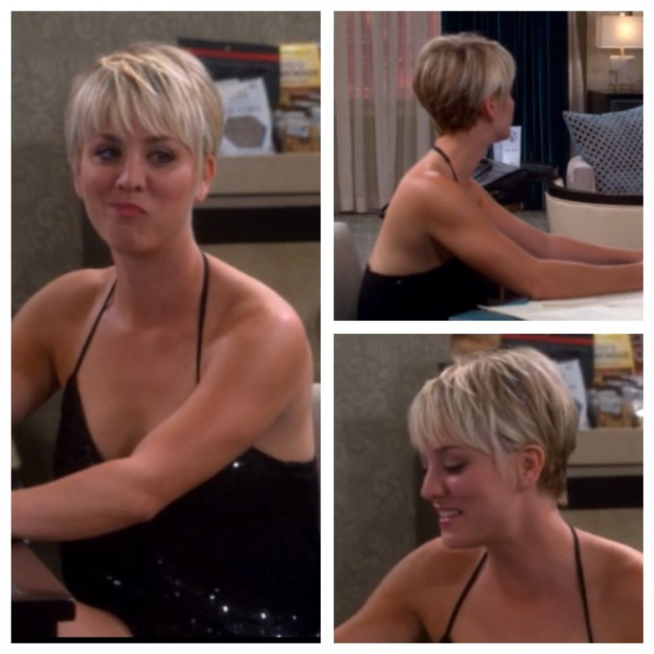 Pin On Girl With Short Hair <11 Kaley Cuoco Pixie Cut