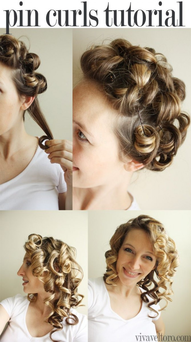 Pin On Hair & Beauty Pin Curls With Bobby Pins