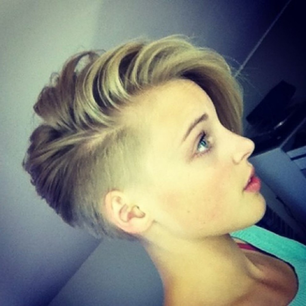 Pin On Hair Board Hair Short On One Side Long On The Other