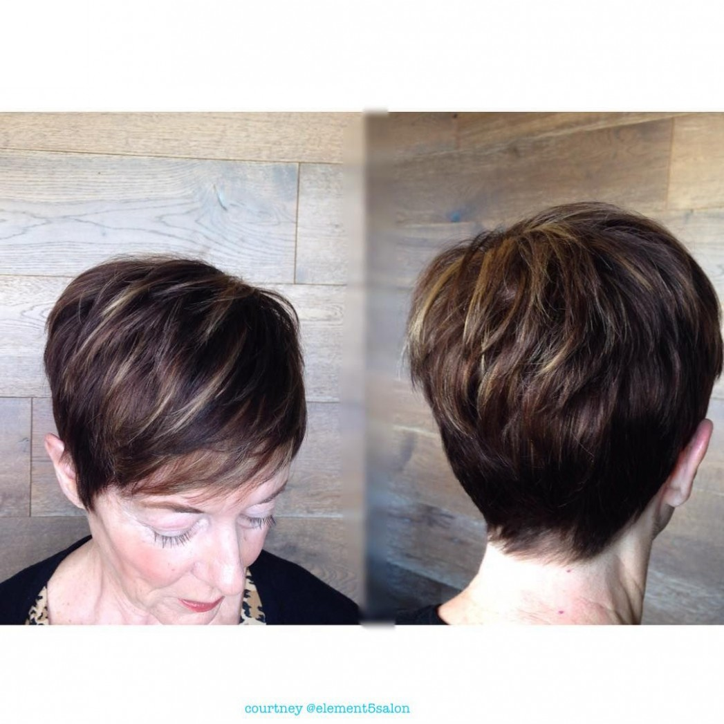 Pin On Hair By Courtney Dark Pixie Cut With Highlights
