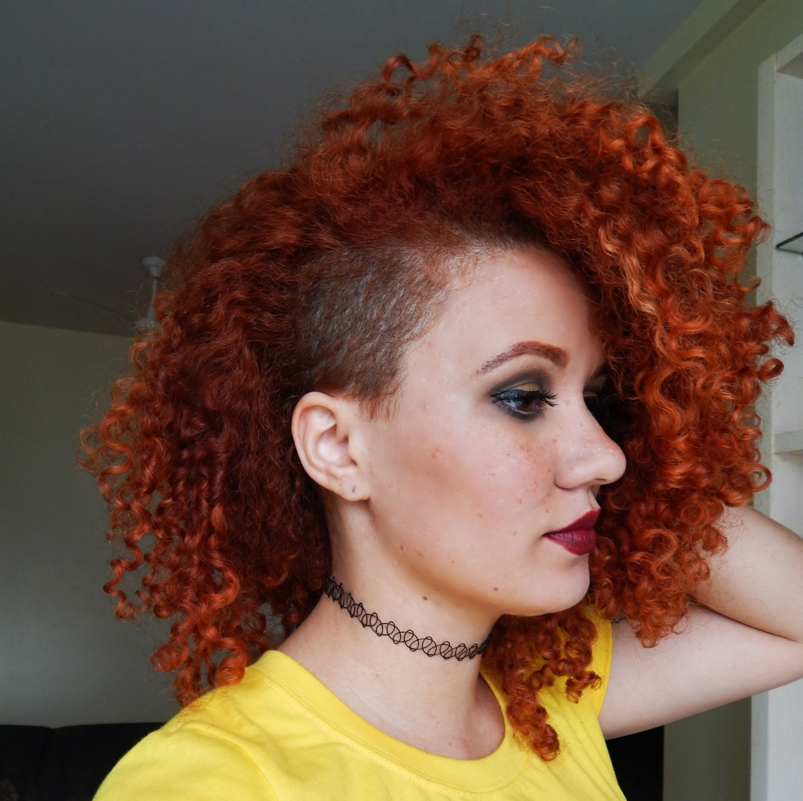 Pin On Hair Dare: Undercuts And Sidecuts Half Shaved Curly Hair