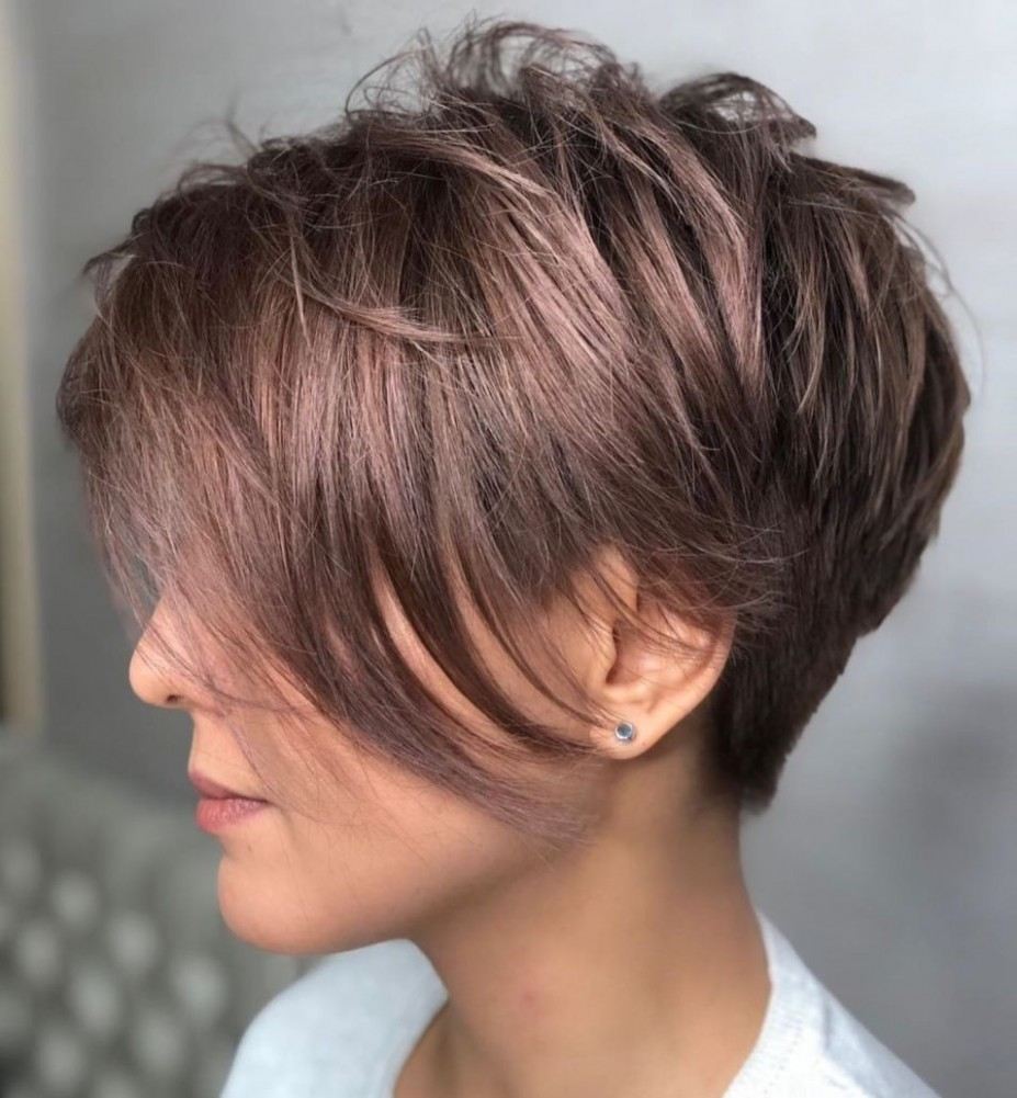 Pin On Hair Long Pixie Cut For Thick Hair