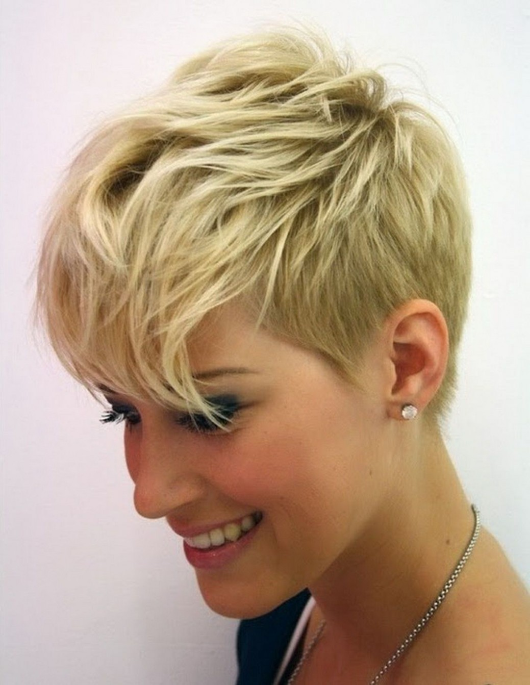 Pin On Hair Pixie Cut For Heart Shaped Face