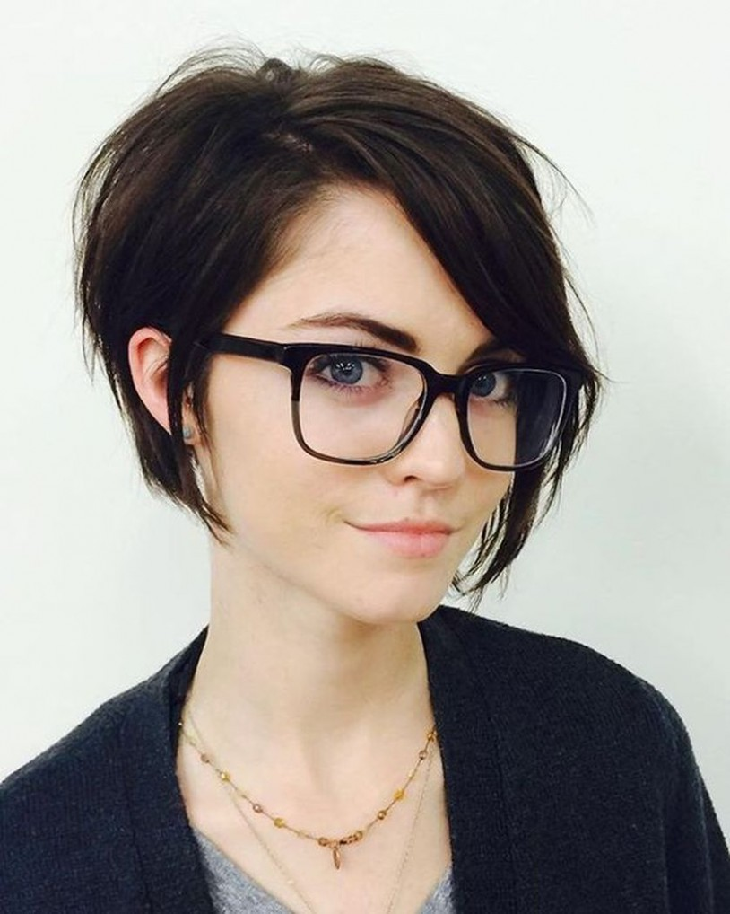 Pin On Hair Styles Pixie Cut With Glasses