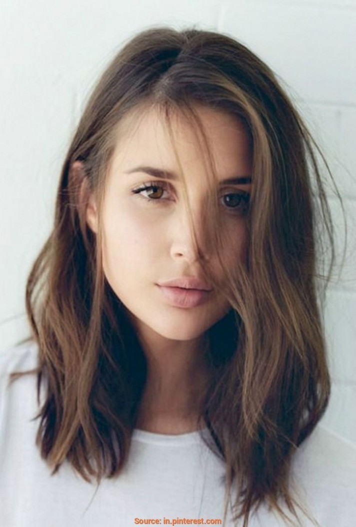 Pin On Hair Styles Shoulder Length Hair For Round Face