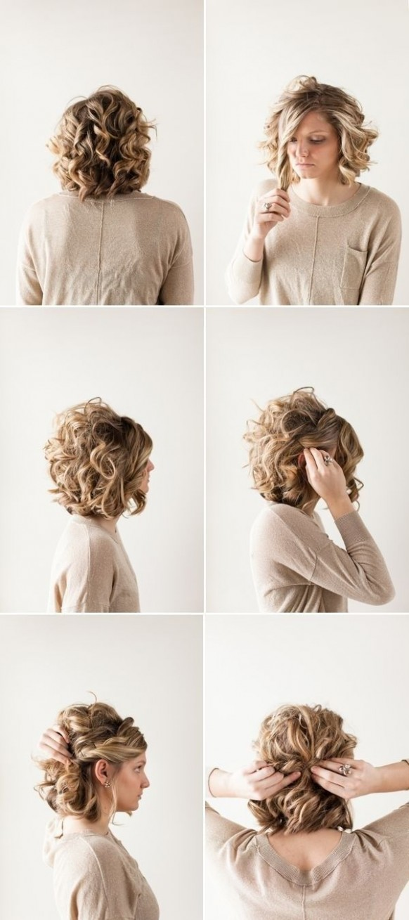 Pin On Hair Styles, Tips And Tricks For Moms Casual Updos For Curly Hair