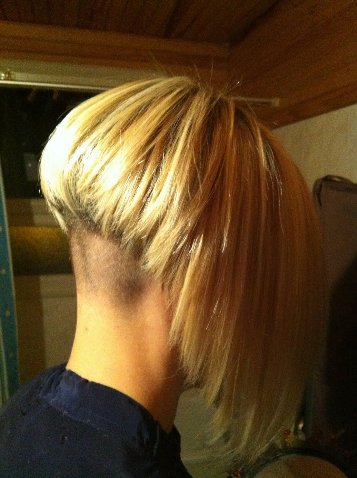Pin On Hair, Super Short Napes Bob With Shaved Back