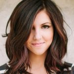 Pin On Layered Hair & Side Swept Bangs Shoulder Length Hair For Round Face