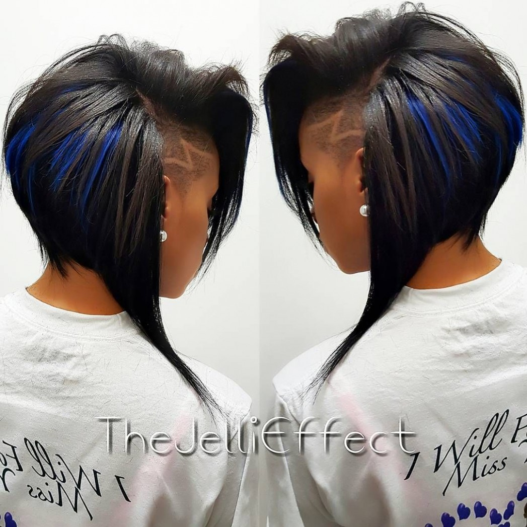 Pin On Lisapool12 Shaved Side Bob Black Hairstyles