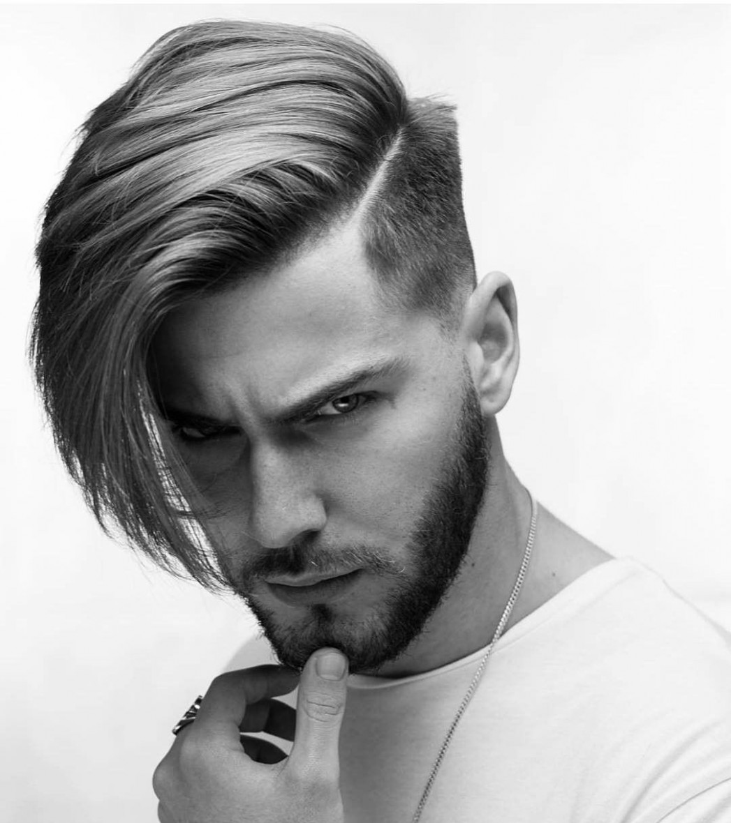 Pin On Mens Hairstyles One Side Long Haircut